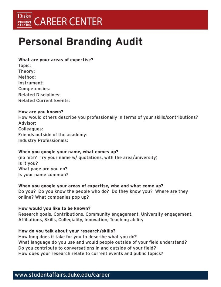 Personal Branding Audit