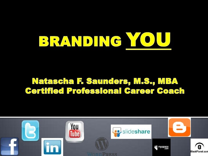 Personal Brand by Twitter @TaschaSaunders