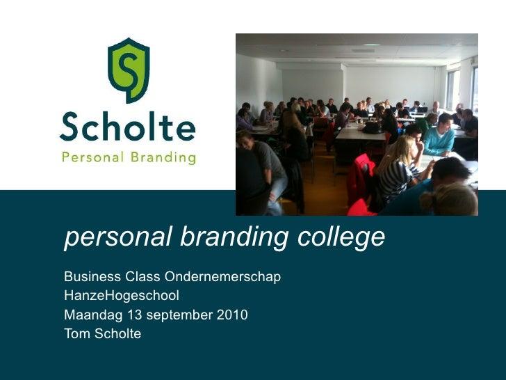 Personal Branding College 13092010