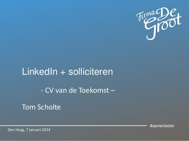 Personal branding CVvdT linkedin presentatie