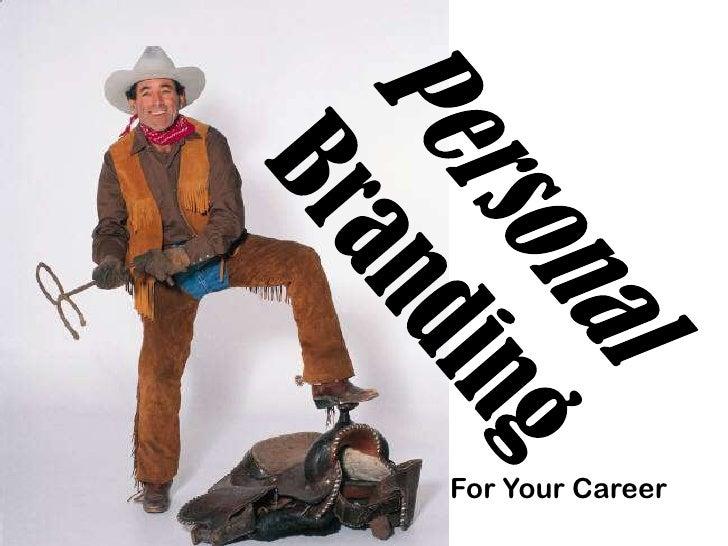 Personal branding for career management