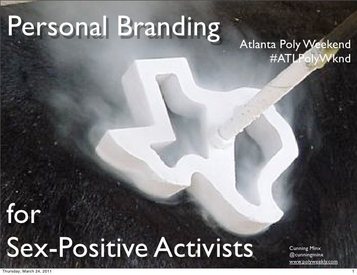 Personal branding for sex-positive activists