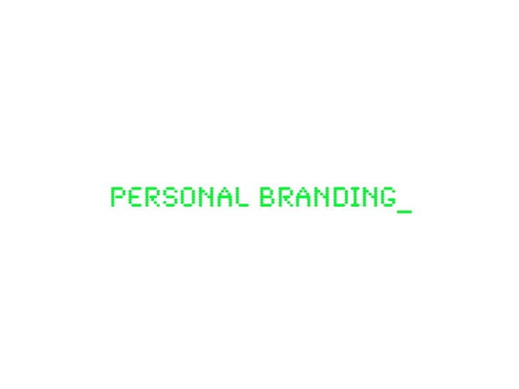 PERSONAL BRANDING_