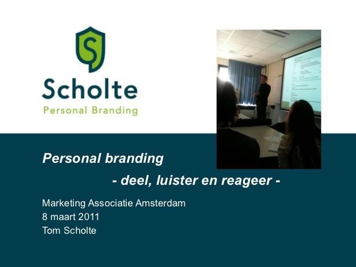 Personal branding masterclass 080311