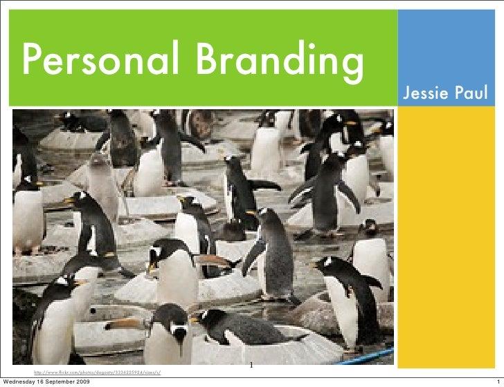 Personal Branding                                                                        Jessie Paul                      ...