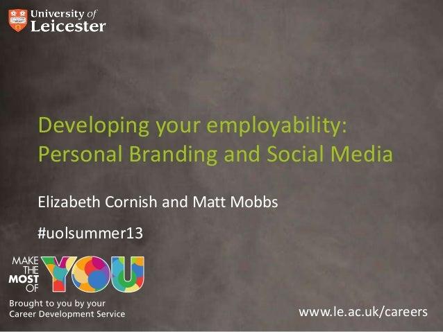 Personal branding - School of Management 2013