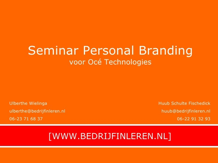 Personal Branding Voor Océ