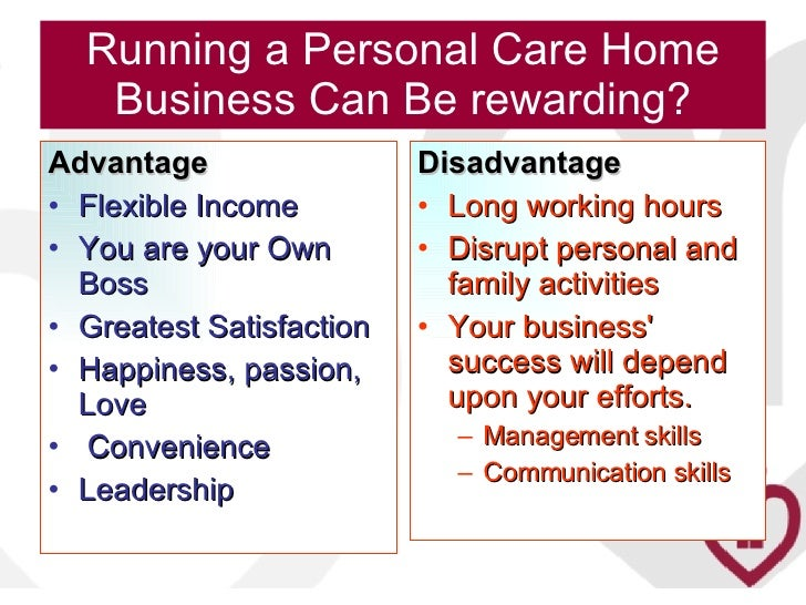 Personal Care Home Business Plan