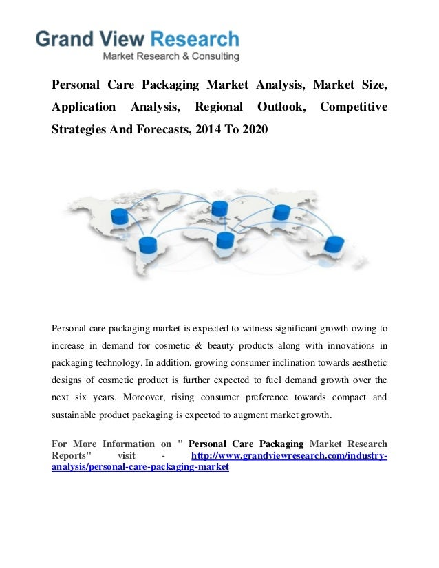 market analysis for european personal care The us health care market: a strategic view of consumer segmentation deloitte center for health  analysis in 2008 involved factor and clustering analyses and.