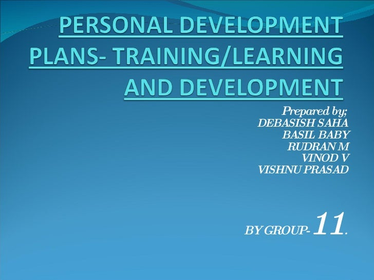 Personal Development Plans  Training