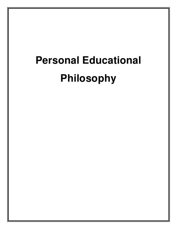 Personal Educational Philosophy