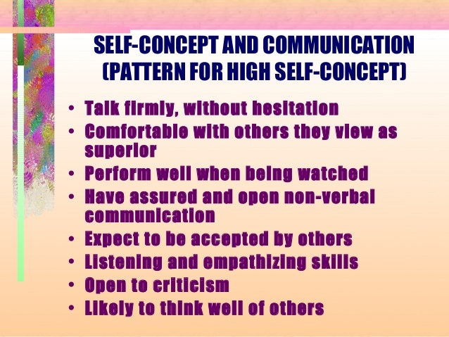 High Self Concept Self-concept And Communication