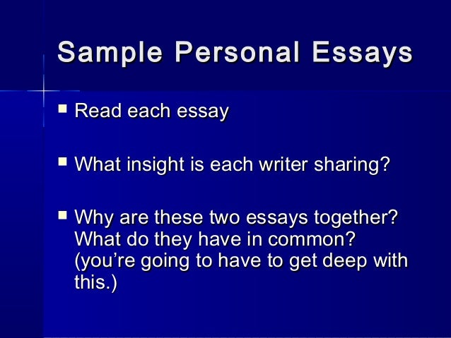 personal essay publication