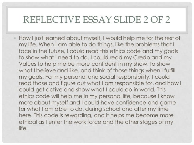 my personal code of ethics essay