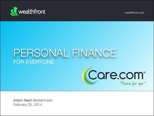 Personal Finance for Everyone (Care.com 2014)