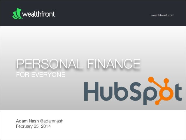 Personal Finance for Everyone (Hubspot 2014)