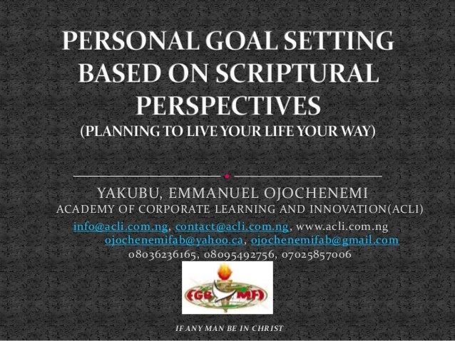 YAKUBU, EMMANUEL OJOCHENEMI ACADEMY OF CORPORATE LEARNING AND INNOVATION(ACLI) info@acli.com.ng, contact@acli.com.ng, www....