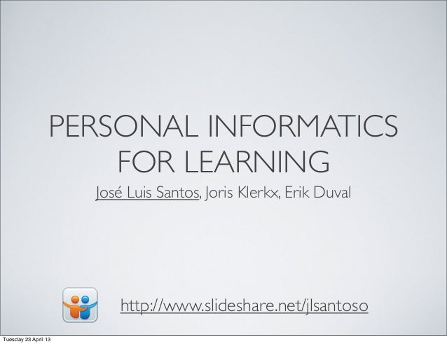 Personal Informatics Workshop