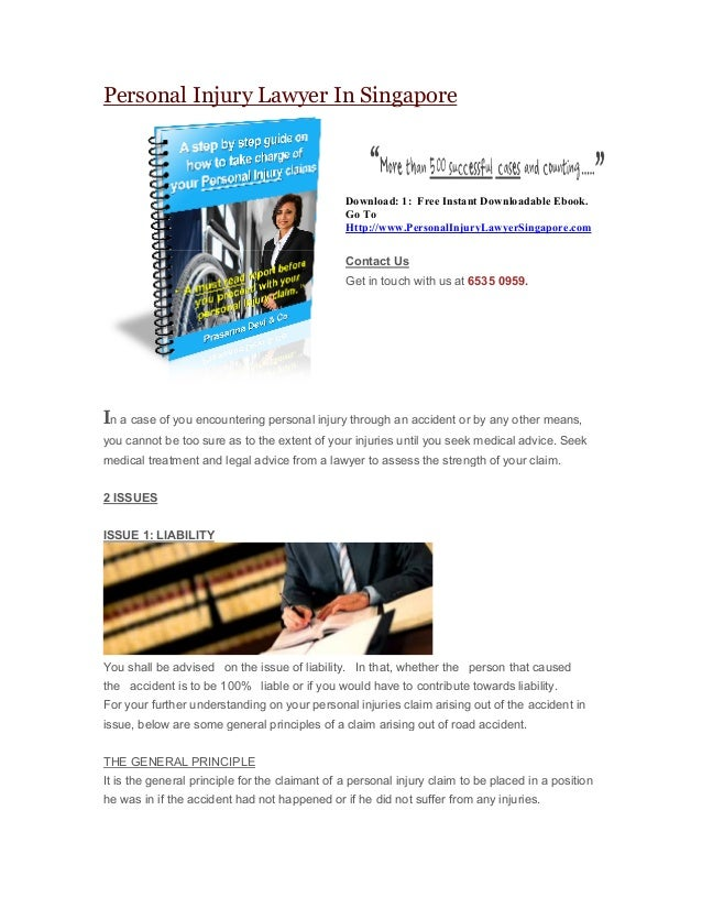 Personal Injury Lawyer In Singapore  Download: 1: Free Instant Downloadable Ebook. Go To Http://www.PersonalInjuryLawyerSi...