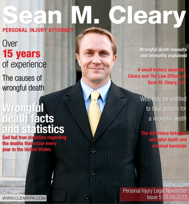 Personal injury legal newsletter   issue5 03.29.2013