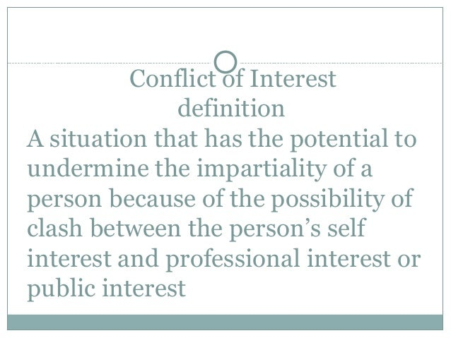 Personal interest and conflict of interest for Terest definition