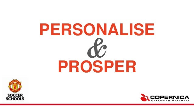 Personalise & prosper - TFM&A Presentation