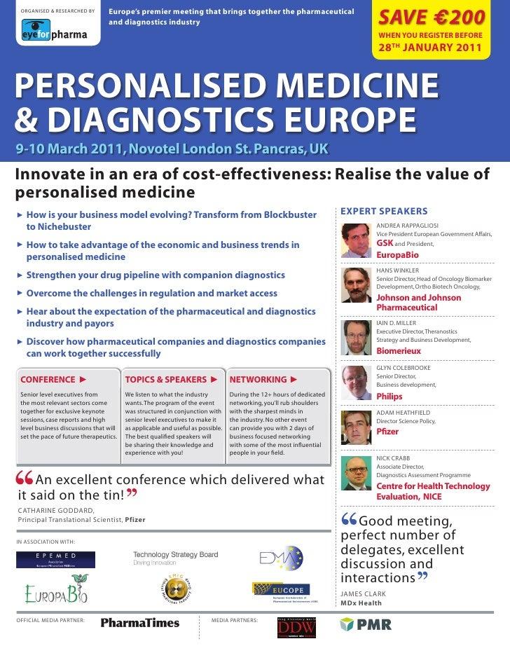 Personalised Medicine and Diagnostics 2011