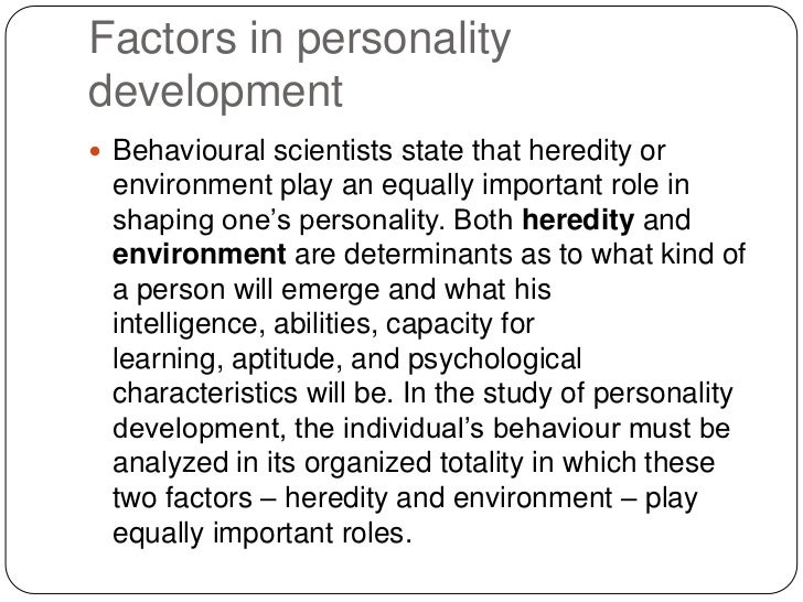 role of heredity in personality development