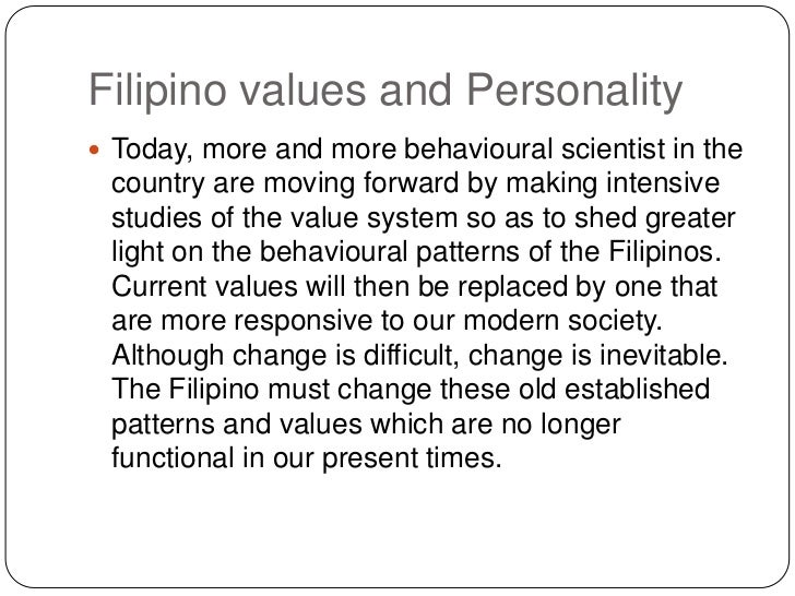 Filipino Values System Filipino Values And
