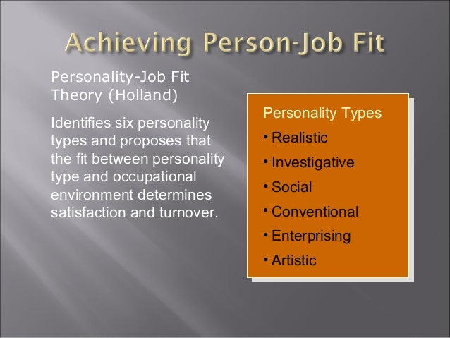 Types Personality Development Personality Types • Realistic