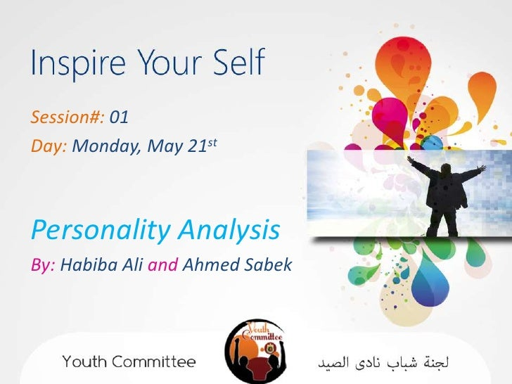 Session#: 01Day: Monday, May 21stPersonality AnalysisBy: Habiba Ali and Ahmed Sabek