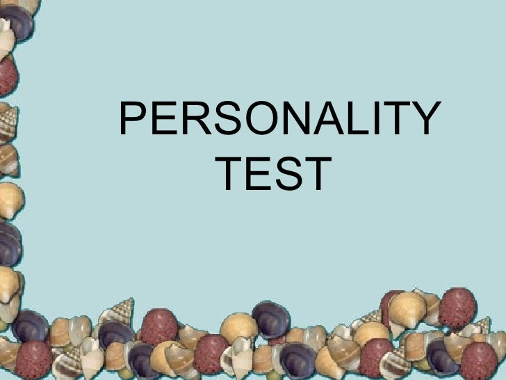 dr phil personality test pdf