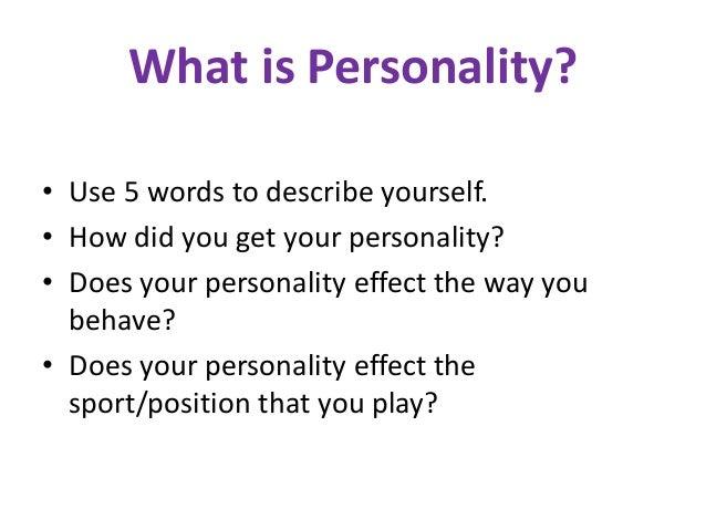 Describing yourself essay