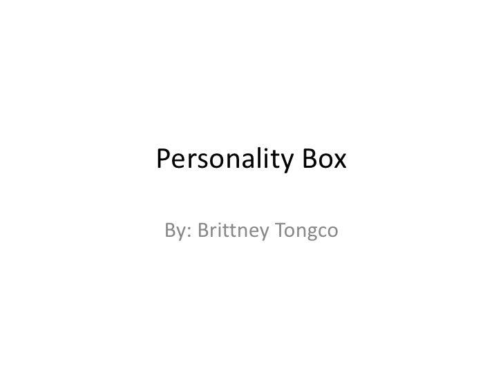 Personality Box
