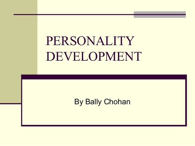 Personality develoment by bally chohan