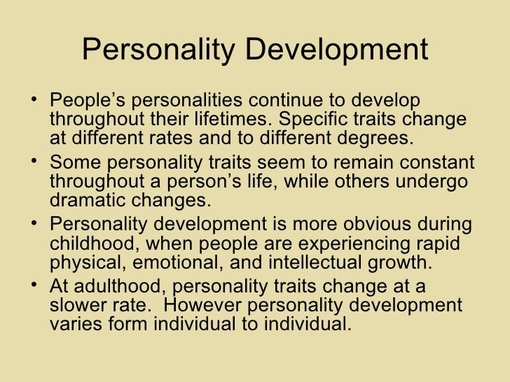 Child Personality Predicts Adult Behavior