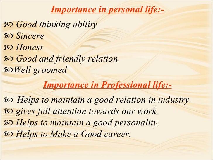 personal life essay