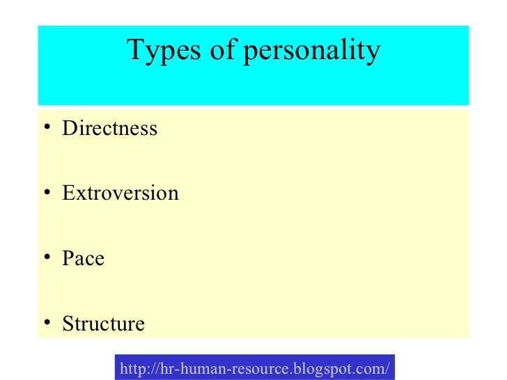 Types Personality Development Types of Personality