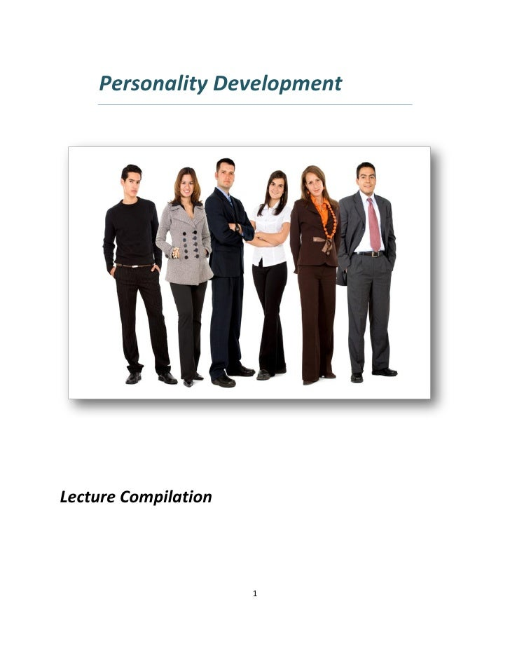 Personality development lecture compilation (97 2003)