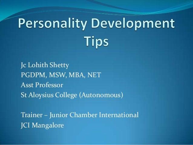 Personality Development Essay