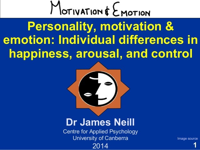 1  Motivation & Emotion  Dr James Neill  Centre for Applied Psychology  University of Canberra  2014  Image source  Person...