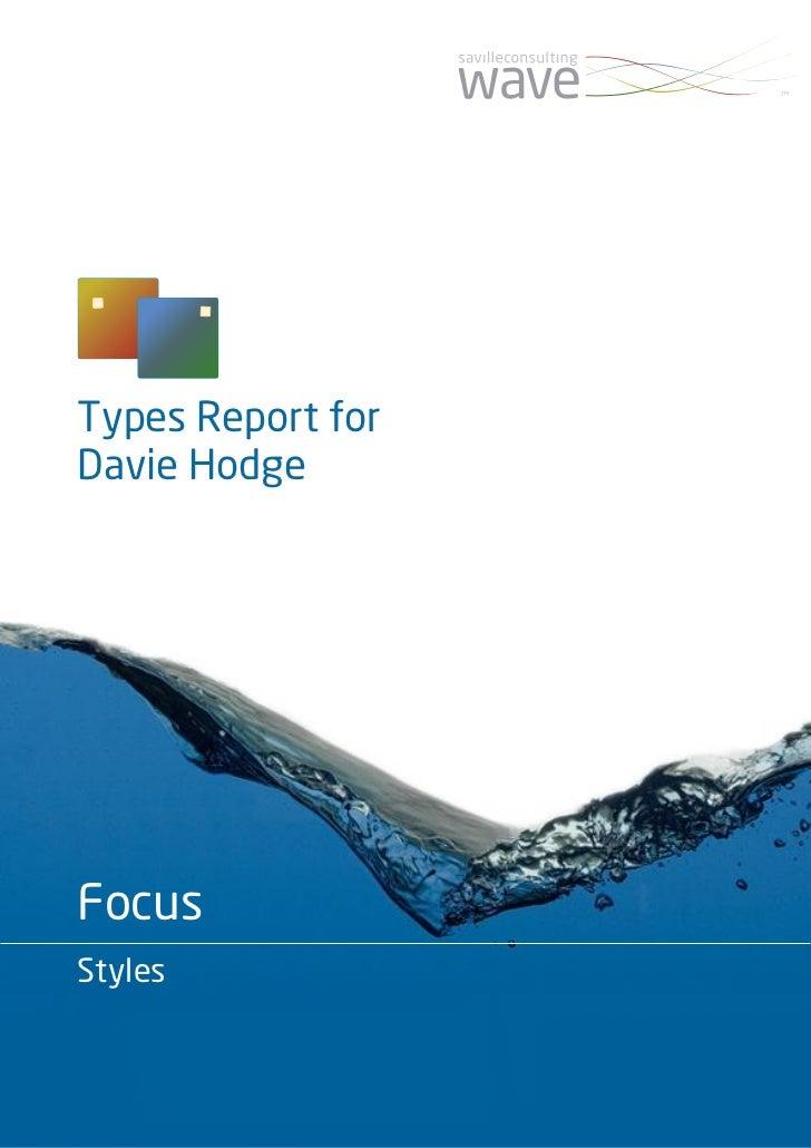 Types Report forDavie HodgeFocusStyles