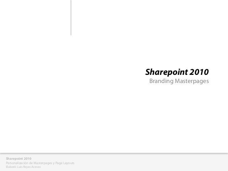 Personalizacion sharepoint2010