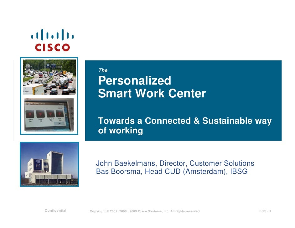 The                      Personalized                     Smart Work Center                      Towards a Connected & Sus...