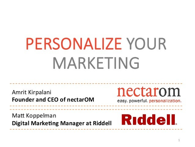 Personalize Your Marketing - Your Customers and CFO Will Thank You