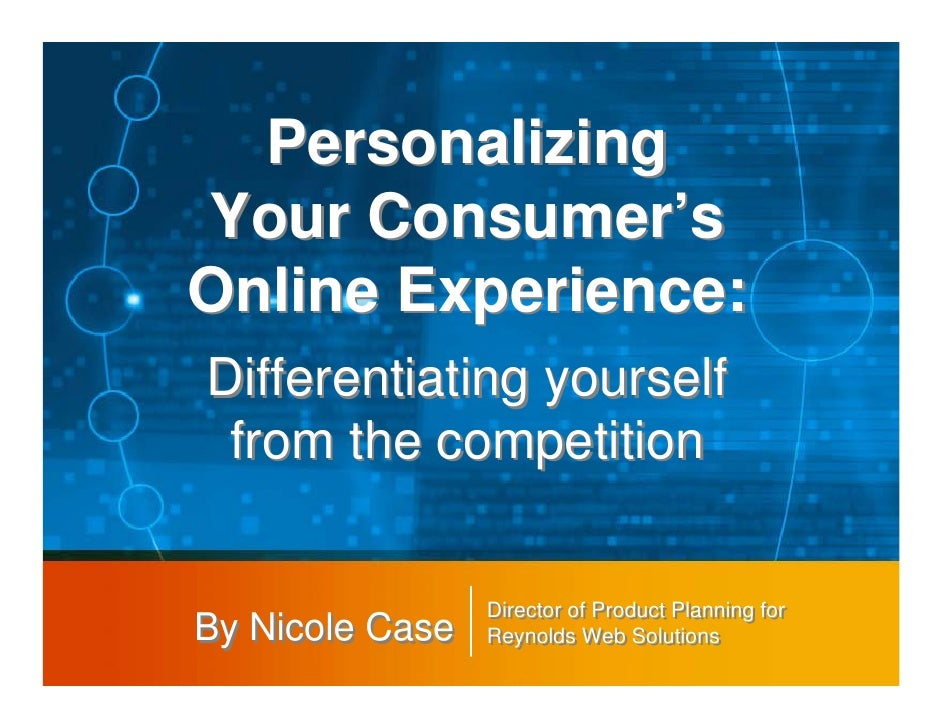 Personalizing consumer online experience