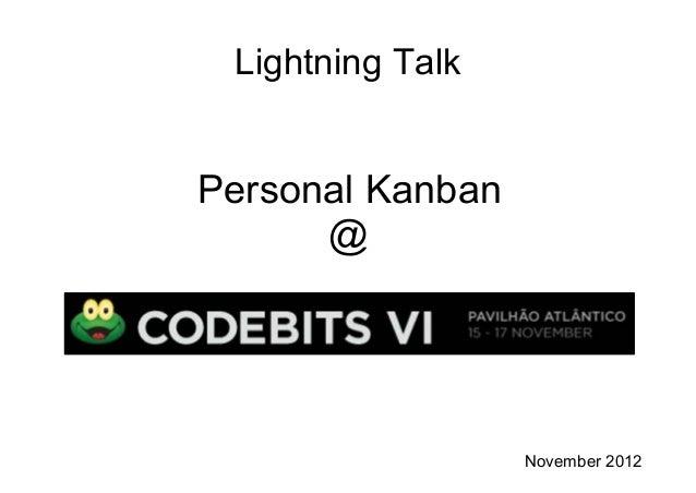 Lightning Talk Personal Kanban @ November 2012