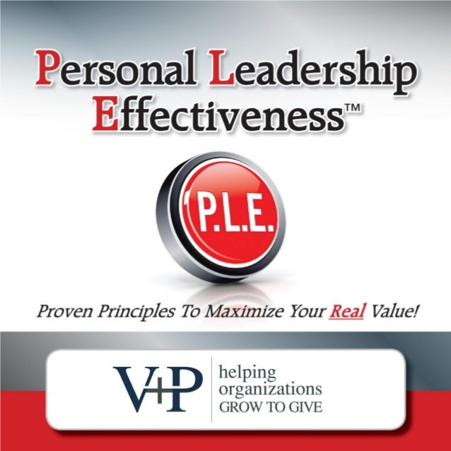 Personal Leadership Effectiveness™   Page   1