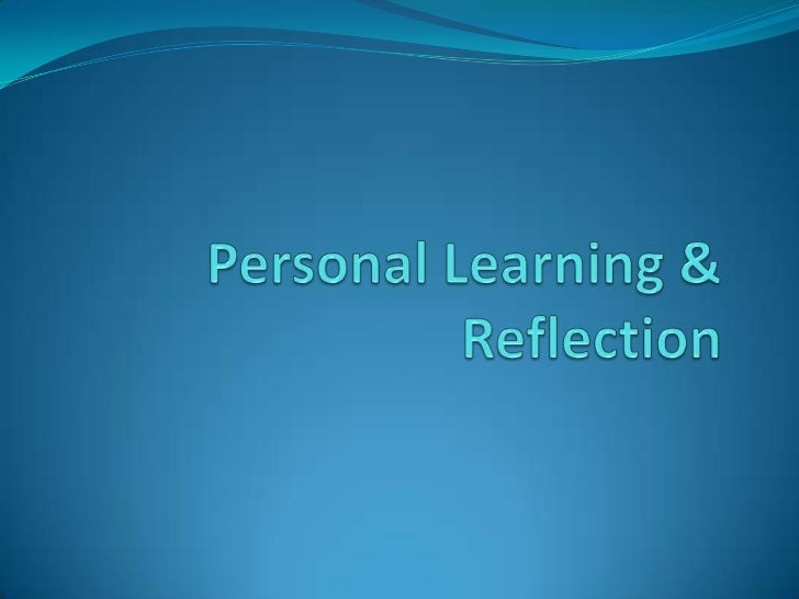 personal reflection on group work