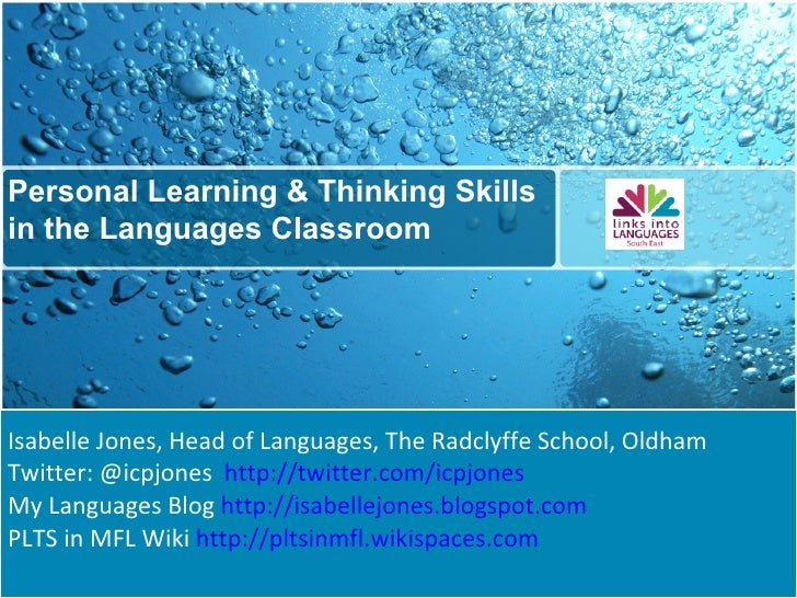 Personal learning and thinking skills in the mfl classroom new